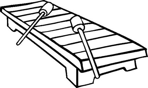 512x306 Xylophone Printable Coloring Page Img