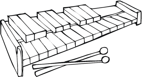 480x261 Xylophone Coloring Page Free Printable Coloring Pages