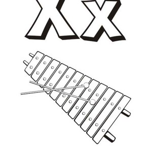 300x300 Alphabet Letter X Is For Xylophone Coloring Page Bulk Color