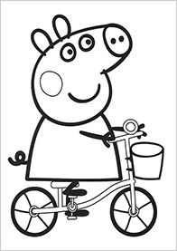 196x277 Peppa Pig Coloring Pages For Kids, Printable Free Coloring Pages