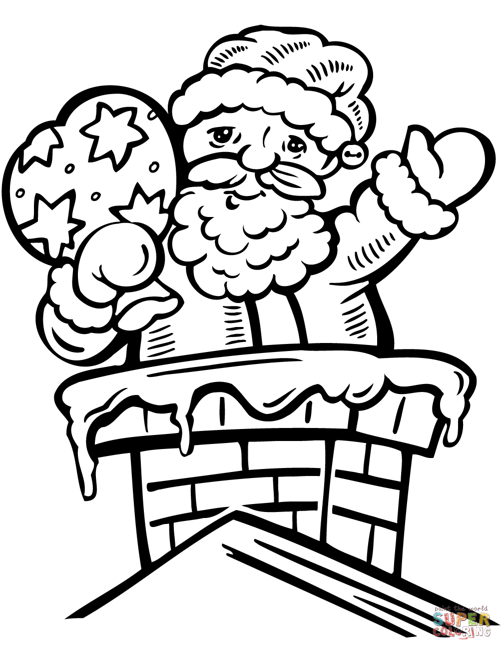 1005x1300 Santa In The Chimney Coloring Page Free Printable Coloring Pages
