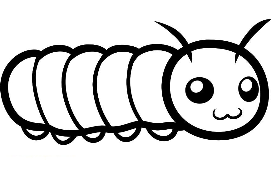 868x546 Astounding Caterpillar Coloring Page 11 With Additional Free