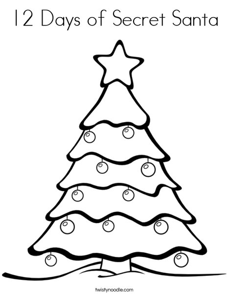 468x605 12 Days Of Secret Santa Coloring Page
