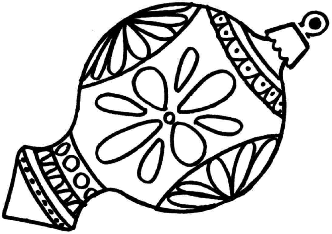 1093x770 Drawn Christmas Ornaments Coloring Page