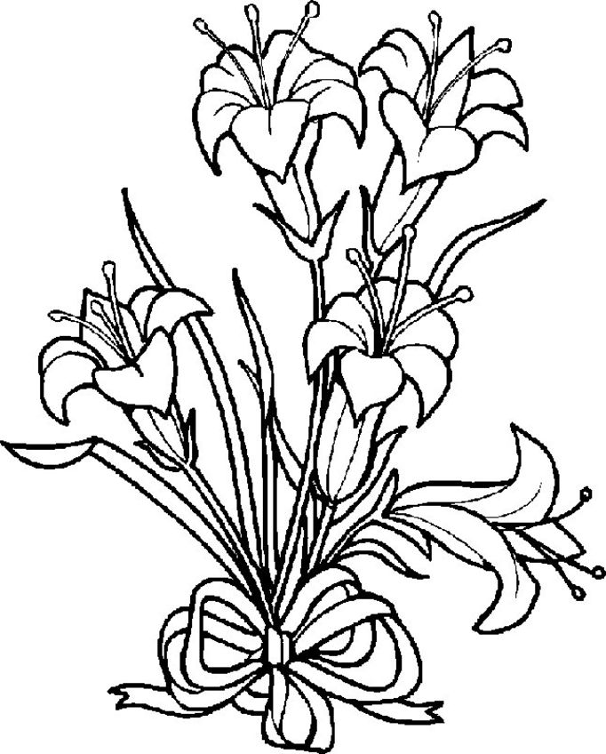 682x848 Flowers Coloring Pages Color Printing Flower Coloring Pages