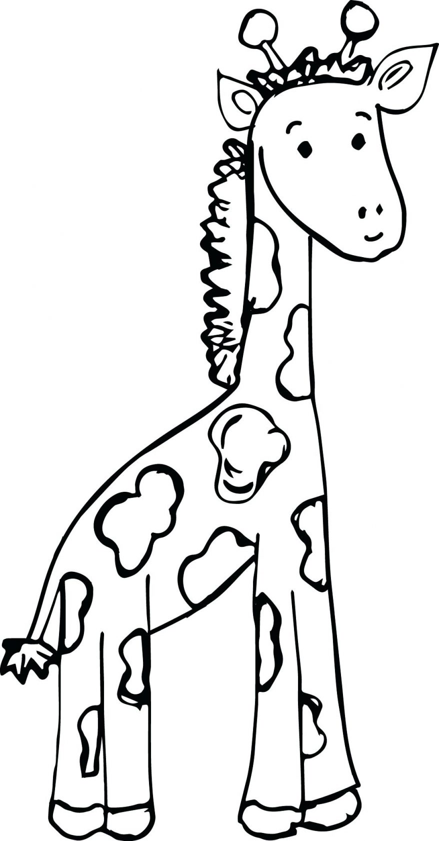 878x1681 Staying Giraffe Coloring Page 48 Extraordinary Book Picture