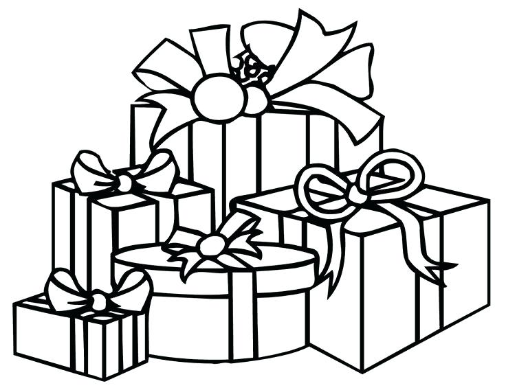 736x568 Christmas Presents Coloring Pages Free With Page Boys Of Ideas