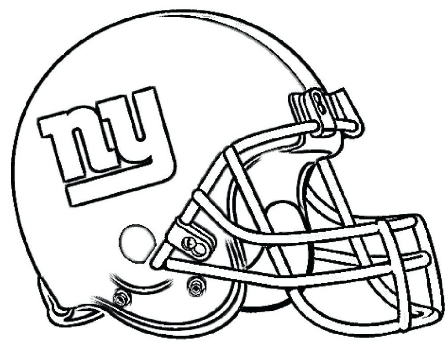 878x716 Football Helmet Coloring Pages Printable New York Giants Parties