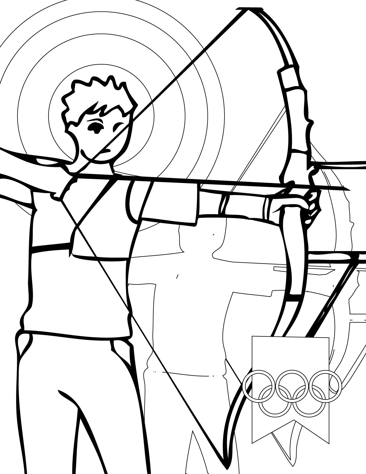 1275x1650 Sports Coloring Pages Archery