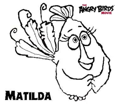 400x356 The Angry Birds Movie Coloring Pages