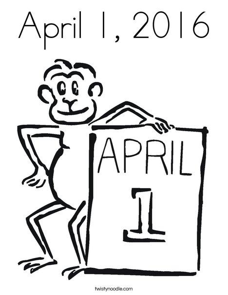 468x605 April 1, 2016 Coloring Page