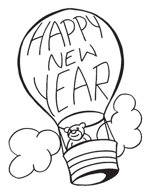 612x792 Happy New Year Coloring Pages 2018