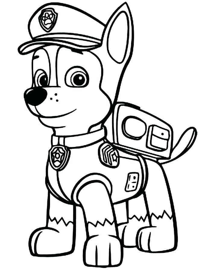 687x900 Paw Print Coloring Pages Paw Patrol Colouring Pages Paw Patrol