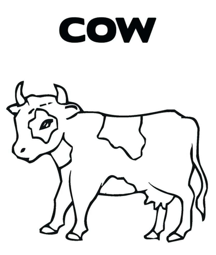 833x986 Printable Cow Coloring Pages Periodic Table 2017 Pdf Christmas