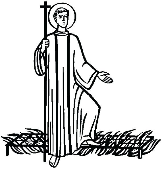 570x595 Saints Coloring Pages Related Posts Catholic Saints And All Saints