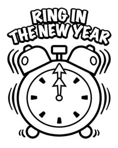 238x300 Free Coloring Pages Happy New Year Happy Greeting Images