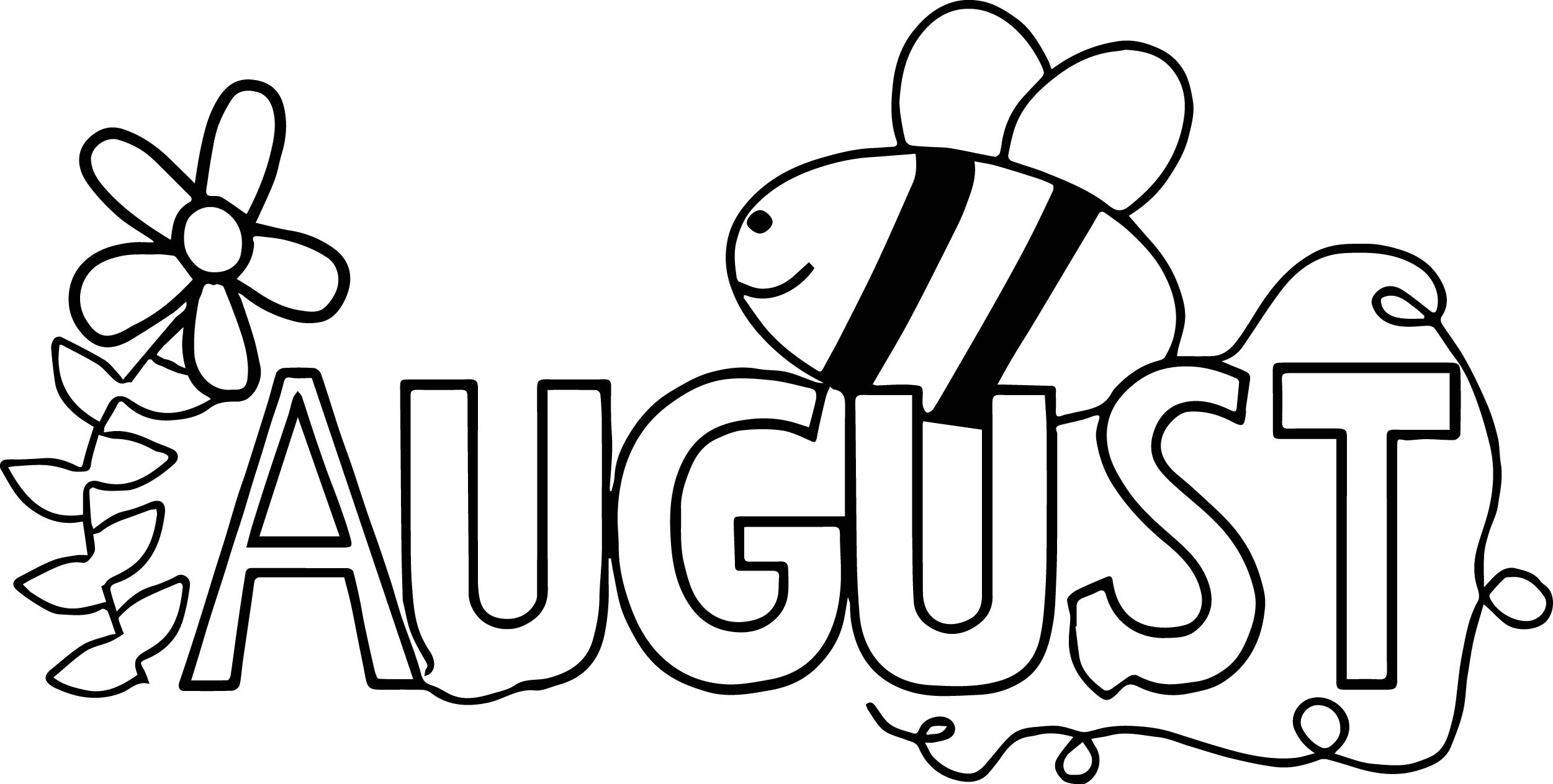 2502x1264 Bee Coloring Pages Page Image Clipart Images