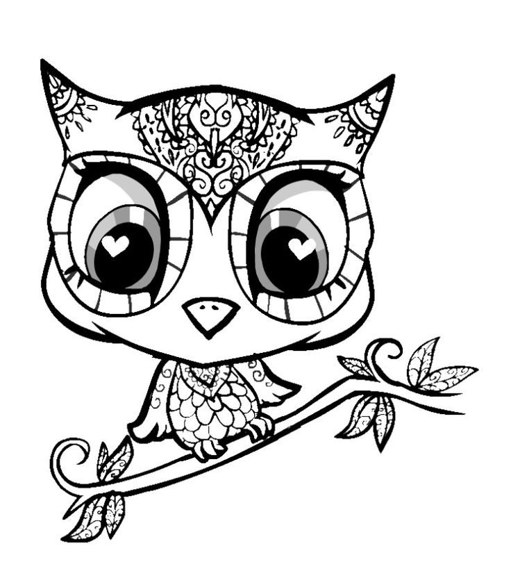 736x809 Cute Printable Coloring Pages