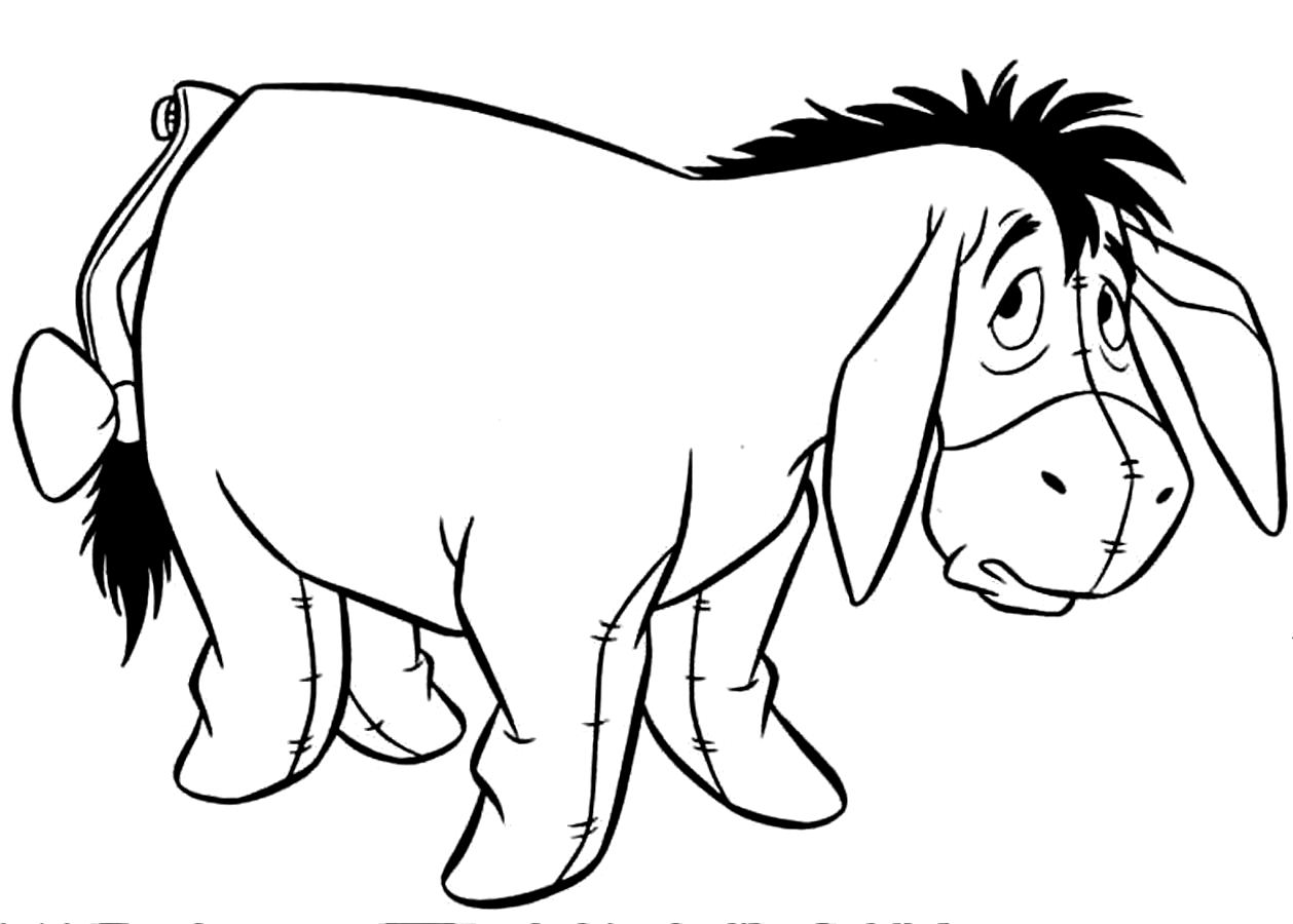 1258x900 Download Coloring Pages. Donkey Coloring Pages Donkey Coloring