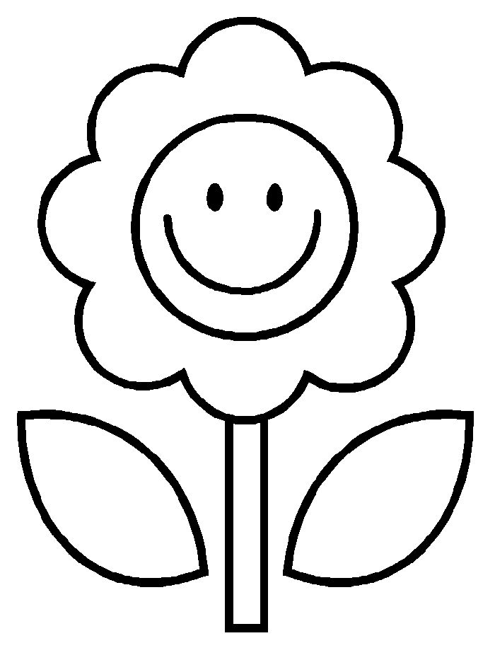700x933 Easy Flower Coloring Pages