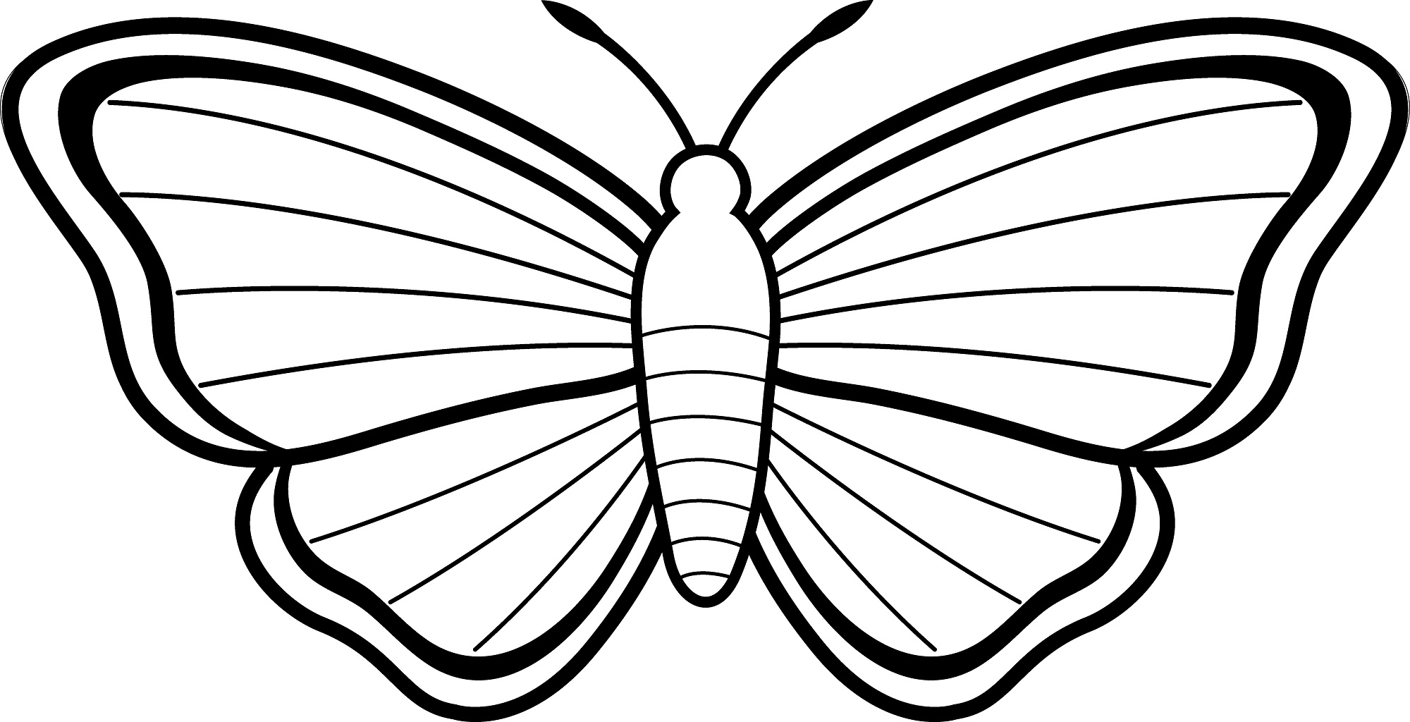2000x1024 Luxury Butterfly Coloring Pages 18 In Free Coloring Book