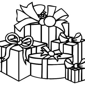 300x300 Best Christmas Present Coloring Pages Ideas