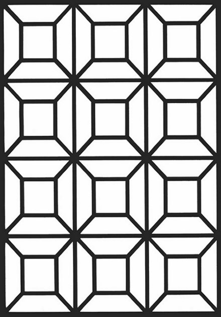 440x630 Geometric Design Colouring Pictures Stained Glass Colouring Pages