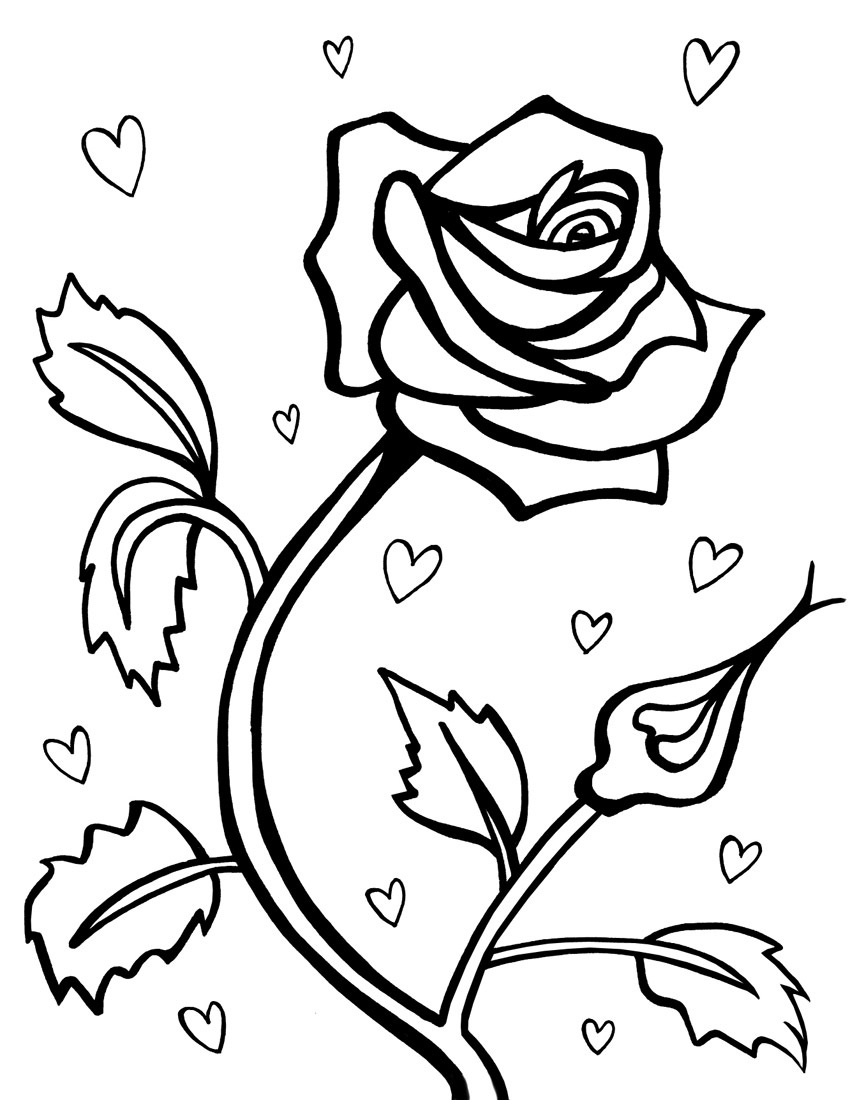 850x1100 Special Roses Coloring Pages Cool Coloring Des