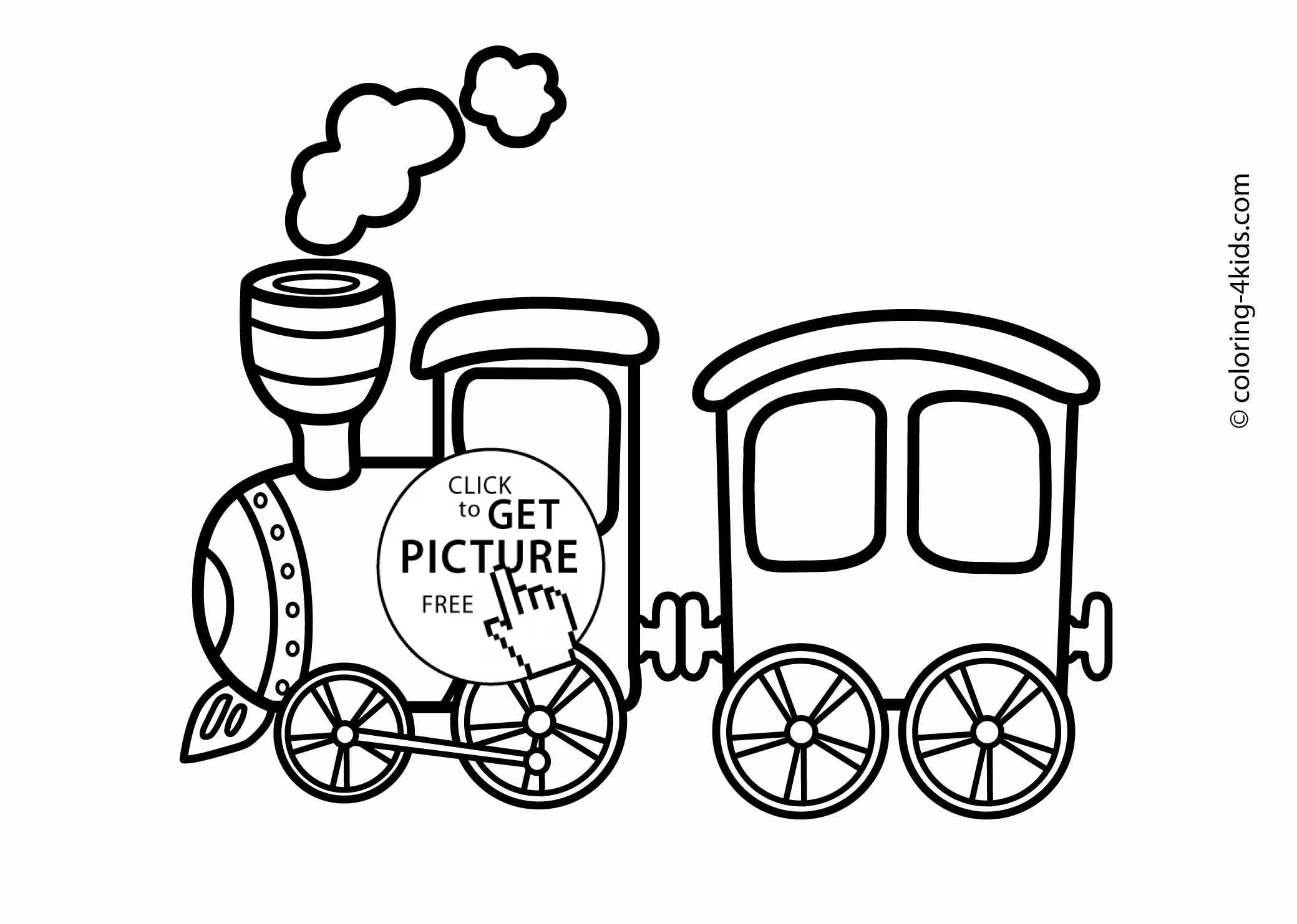 2079x1483 Train Transportation Coloring Pages For Kids, Printable Coloing