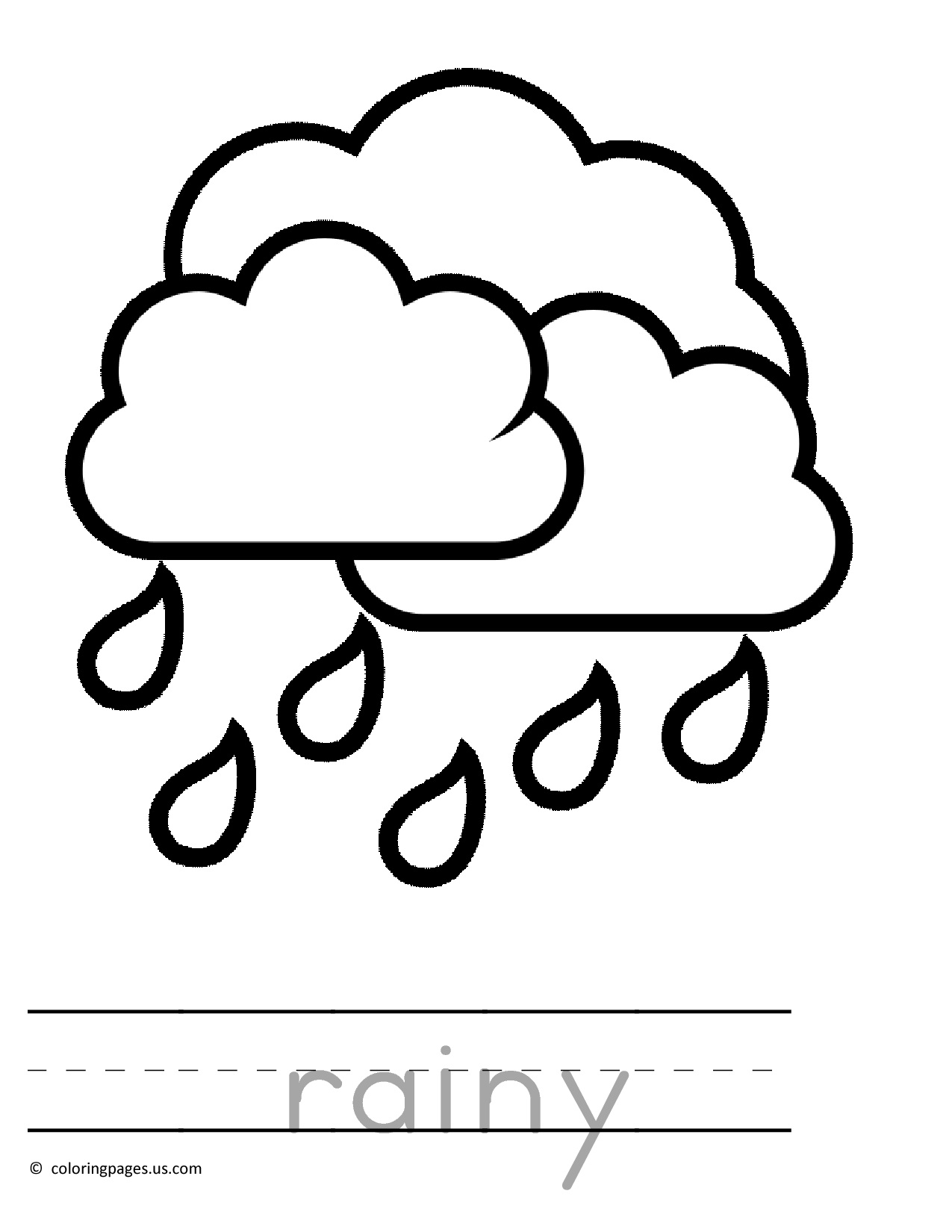 1275x1650 Raining Preschool Coloring Pages 01 4 Kids Coloring Very Young
