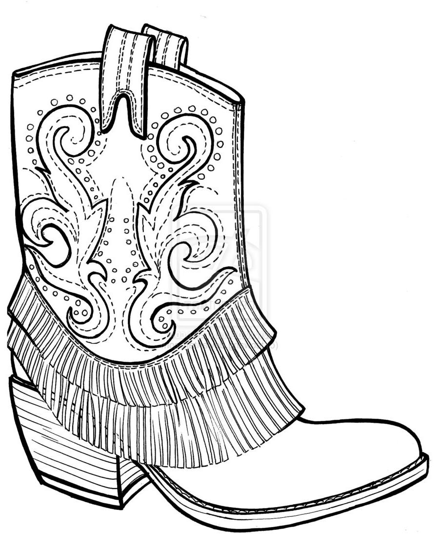 country boots coloring pages - photo#23