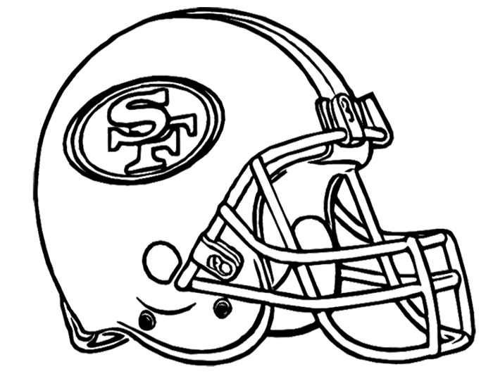 700x541 Football Helmet San Francisco 49ers Coloring Page Kids Coloring