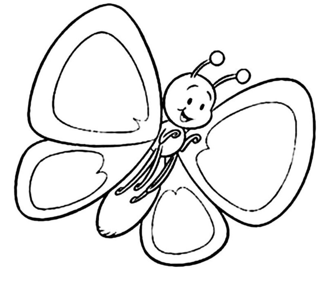 1100x955 Coloring Pages For Kids Butterfly Coloring Pages
