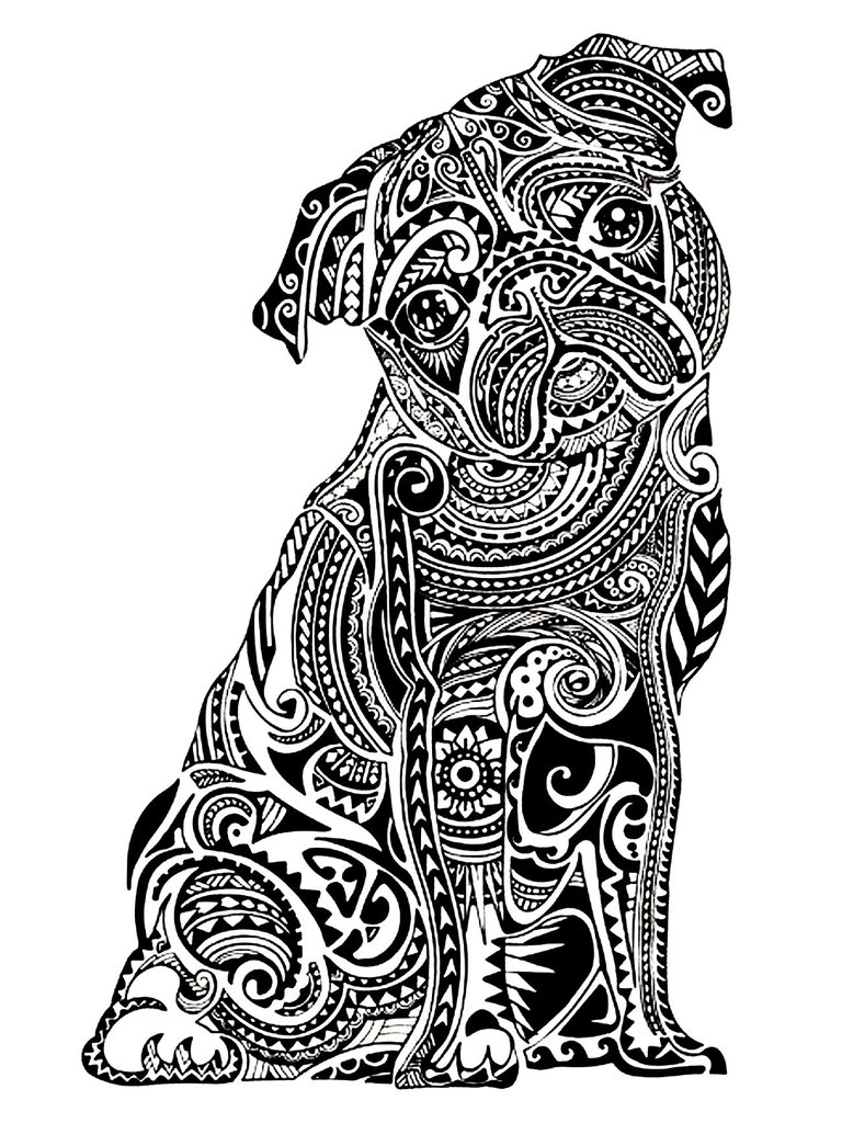 768x1024 Get The Coloring Page Pug Free Coloring Pages For Adults
