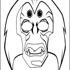 268x268 Mardi Gras Mask Coloring Pages Printable Frog Mask Lion Mask 999