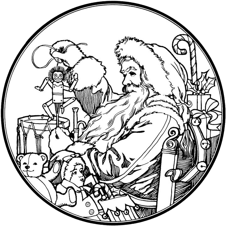 719x720 Santa Claus Coloring Pages 4 Free Patterns Yarn Add Color