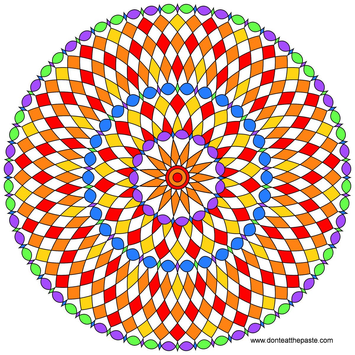 1200x1200 A New Mandala To Color Blank Versions Avail In Png And Jpg Search