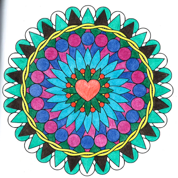 31 Already Colored Coloring Pages - Free Printable Coloring Pages