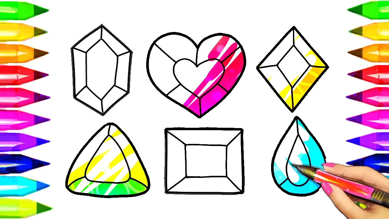 1280x720 Coloring Pages Magic Colored Crystals Crystal Drawings And Art