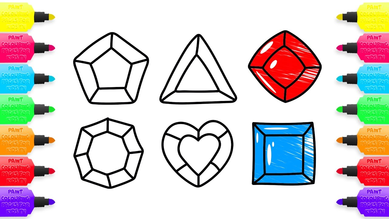 1280x720 Coloring Pages Magic Colored Crystals Drawing And Art Colours