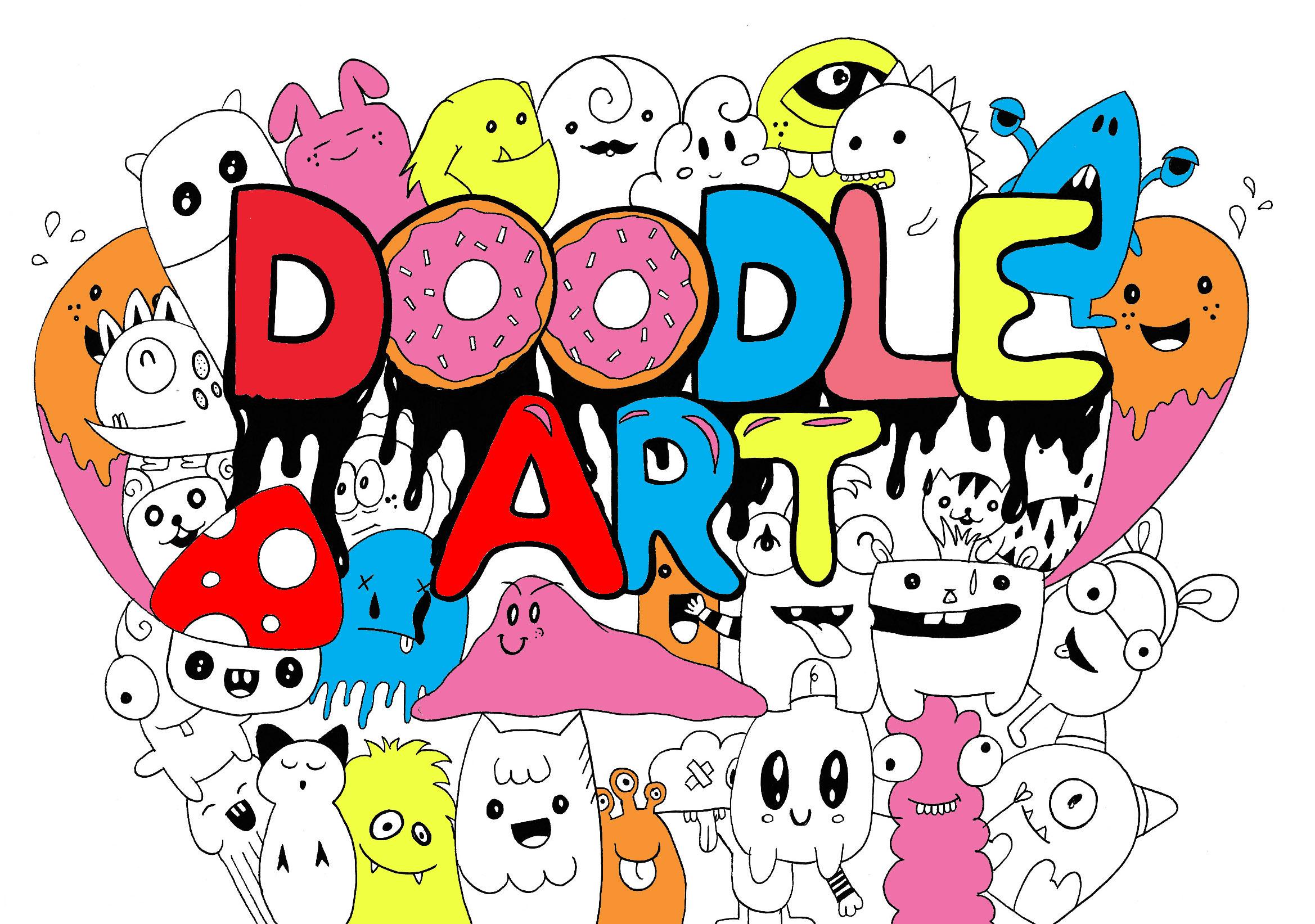 2338x1643 Doodling Doodle Art
