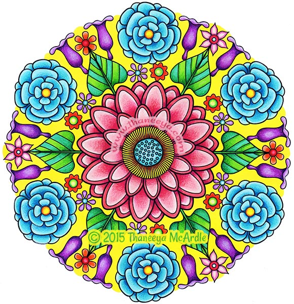580x600 Flower Mandalas Coloring Book By Thaneeya Mcardle