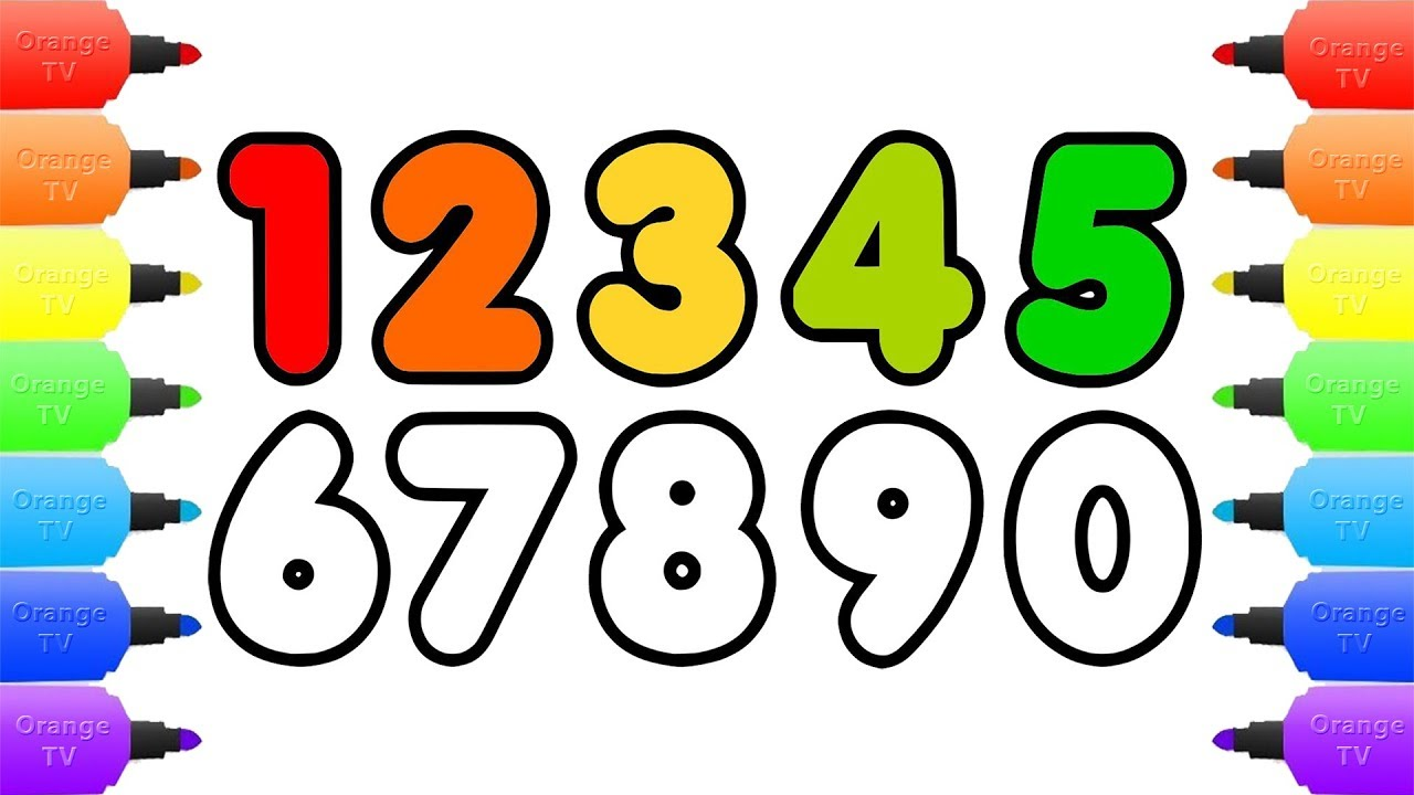 1280x720 How To Draw Numbers Coloring Pages For Kids Draw Color Numbers