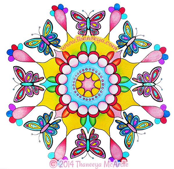 600x583 Nature Mandalas Coloring Book By Thaneeya Mcardle