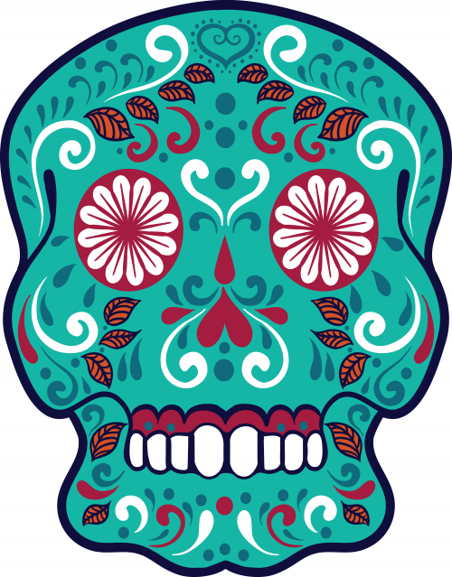 500x639 Sugar Skull Advanced Coloring 14 Sugar Skulls, Free Printable
