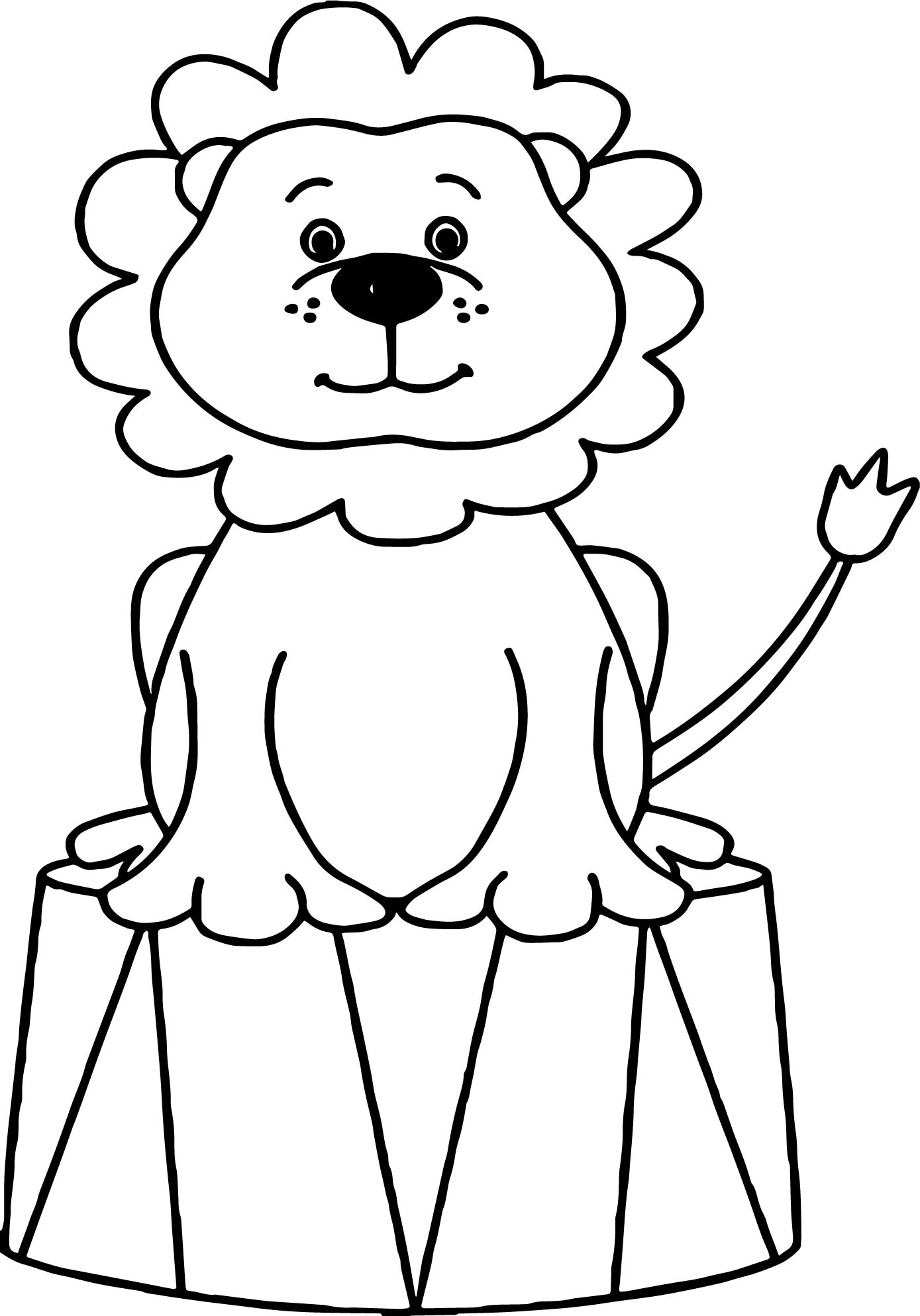 1389x1987 Coloring Pages Animals Lion Circus Animals Coloring Page Lion