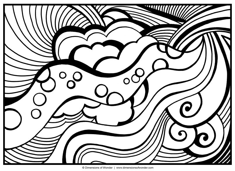 805x585 Coloring Pages Kids Abstract Coloring Art Pages For Kids Dr Odd