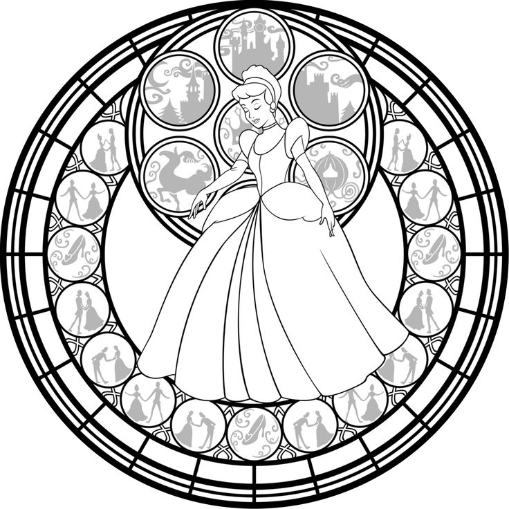 736x736 Disney Coloring Pages Glass496328