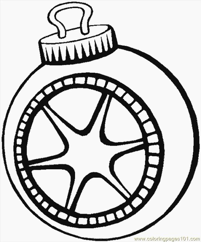 Coloring Pages Christmas Ornaments For Toddler Color Kids Tree