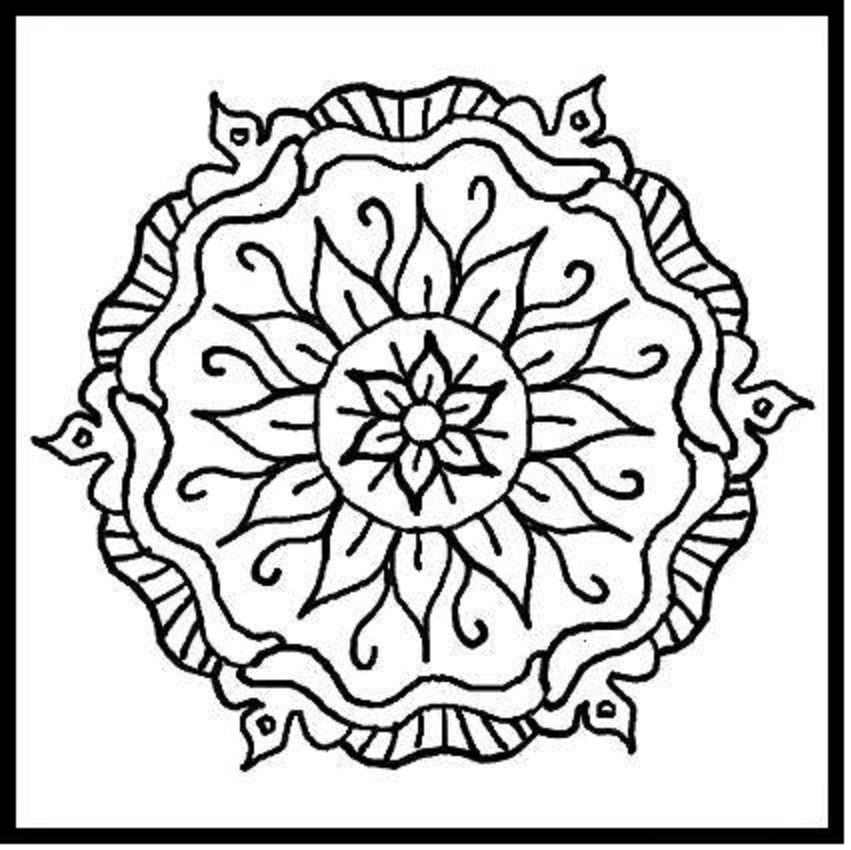 851x850 Printable Christmas Coloring Pages For Adults